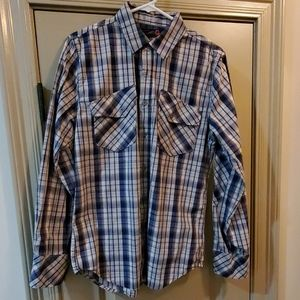 Mens long sleeve button up by GUESS